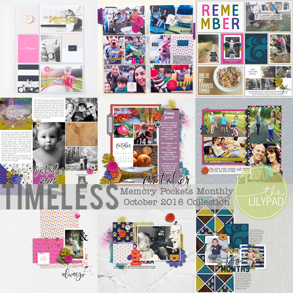 Memory Pockets Monthly October Collection TIMELESS