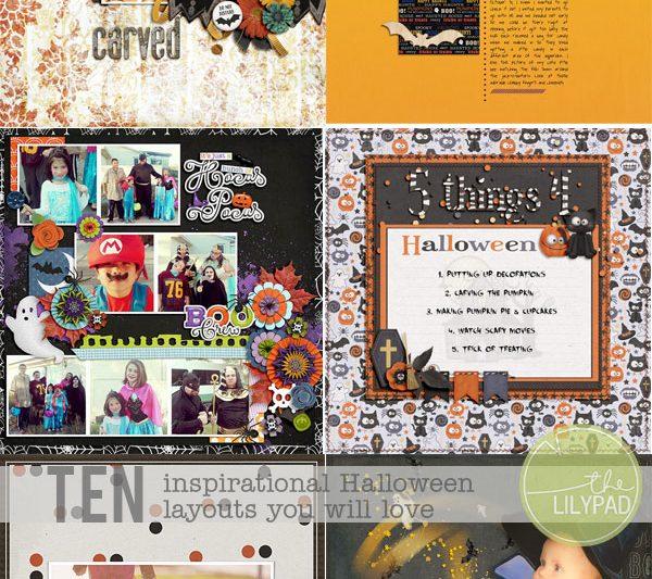 Ten Inspirational Halloween Layouts