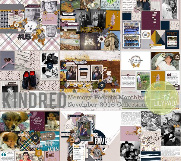 Memory Pockets Monthly November 2016 Collection | Kindred