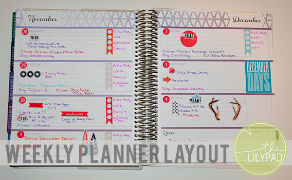 Weekly Planner Layout
