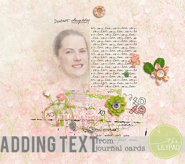 Adding Text From Journal Cards