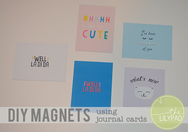 DIY Valentine's Day Magnets using Journal Cards