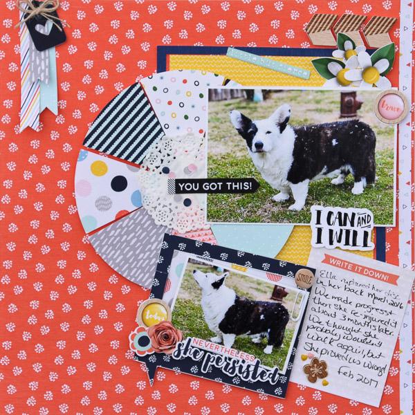 12 x 12 layout, hybrid, mommyish designs, fiddle dee dee designs, pie chart, pi day,