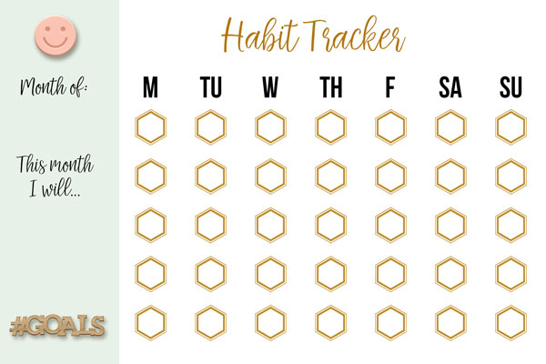 It is an image of Monthly Habit Tracker Printable inside editable