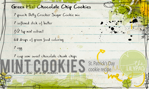 Green Mint Chocolate Chip Cookies!