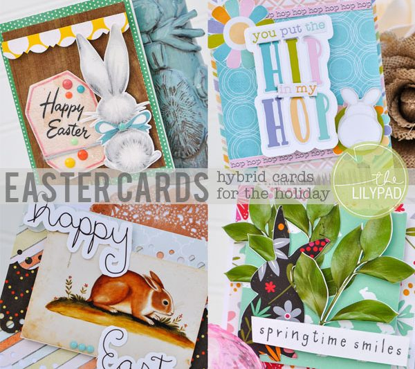 Hybrid Easter Cards-Stepping Out of  Your Box