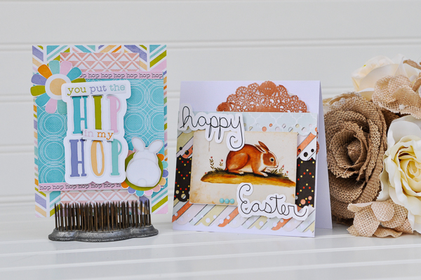 Hybrid Easter Cards by Katrina Hunt Using Bella Gypsy Designs and Amy Wolfe