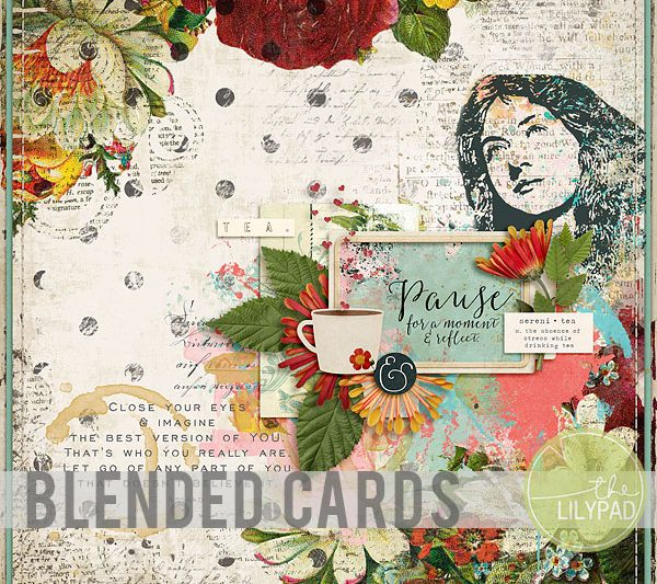 Extend Your Stash:  Blending Journal Cards