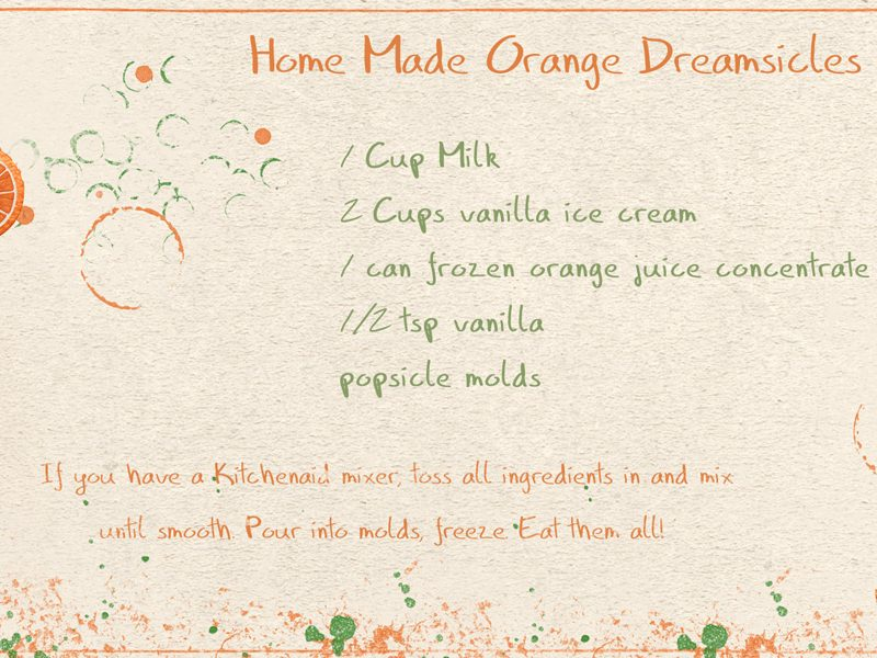 Home Made Dreamsicles!
