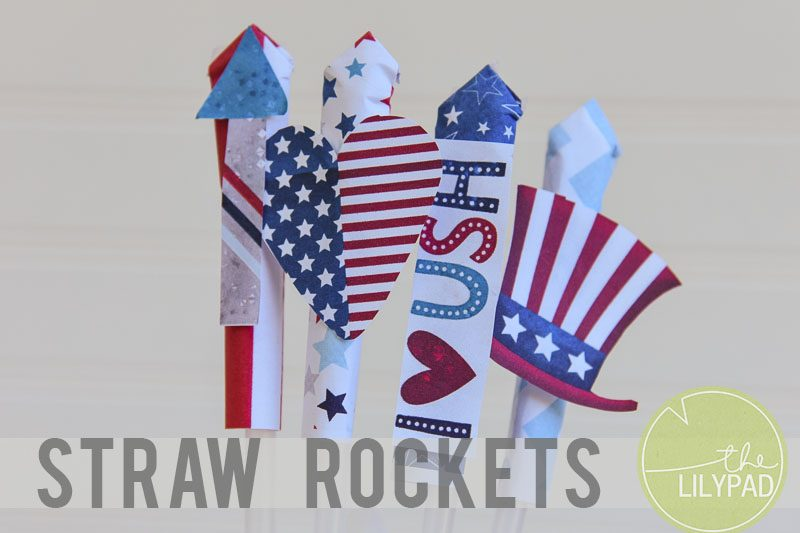 Straw Rockets For The 4th