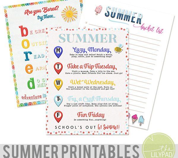 Summer Survival Printables