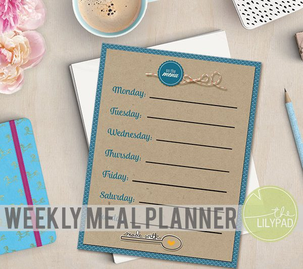 Weekly Meal Planner {Free Printable}
