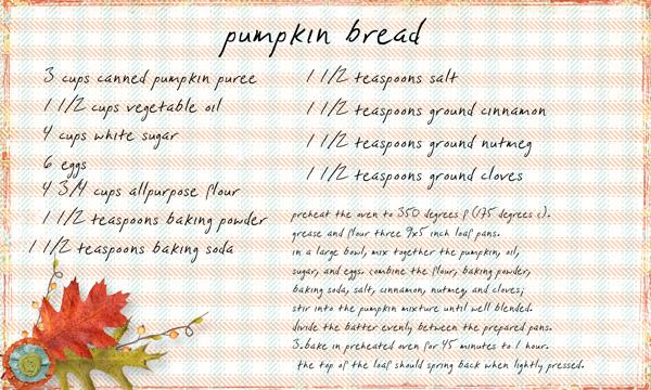 Pumpkin Bread – Fall is in the air!