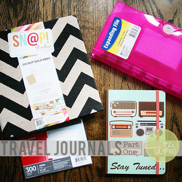 Travel Journals:  Part One