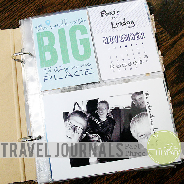 Travel Journals:  Part Three