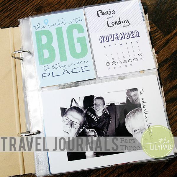 Travel Journals:  Part Three