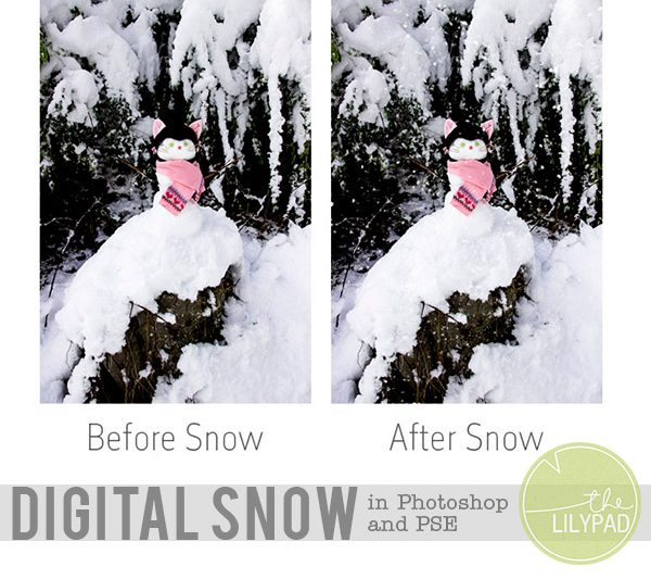 Creating Snow in Photoshop & PSE