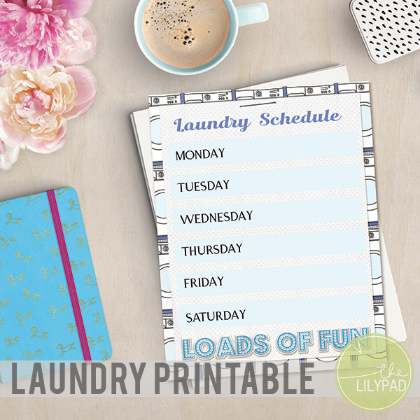 Laundry Schedule Printable