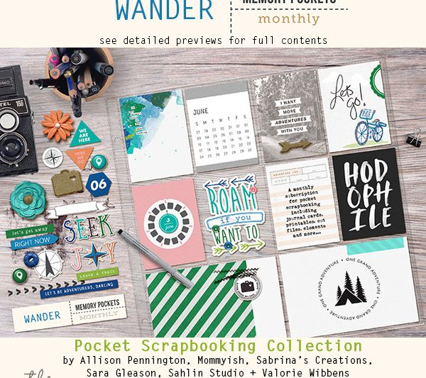 Memory Pockets Monthly : Wander
