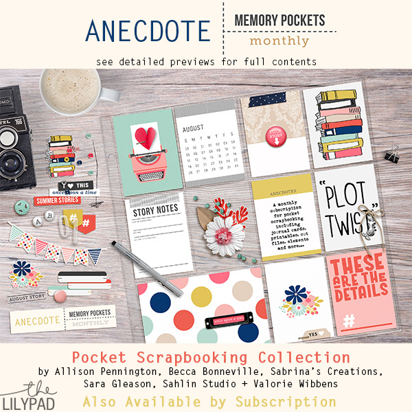 Memory Pockets Monthly: Anecdote
