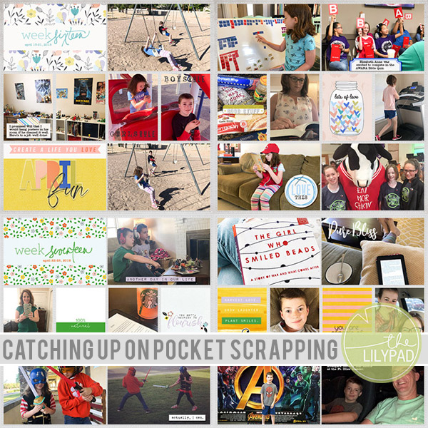 Catching Up On Pocket Scrapping Projects