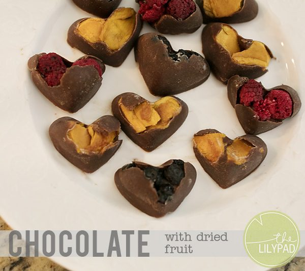 Homemade Chocolate with Dried Fruit