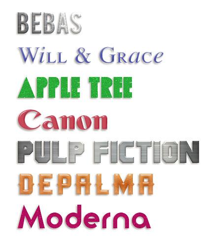 Stylized Fonts