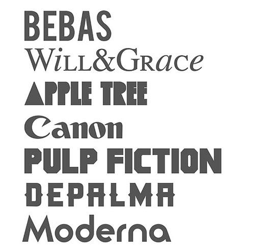 Title Fonts