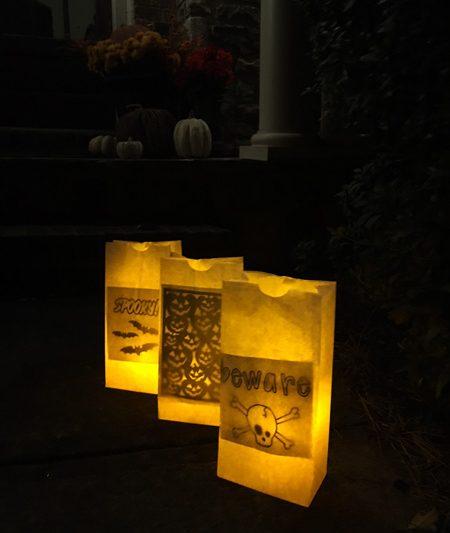 Halloween Luminaries – light up your path!