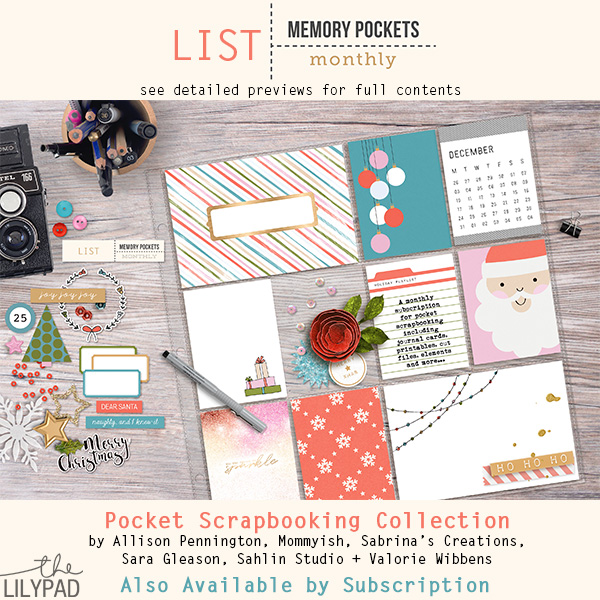 Memory Pockets Monthly : List