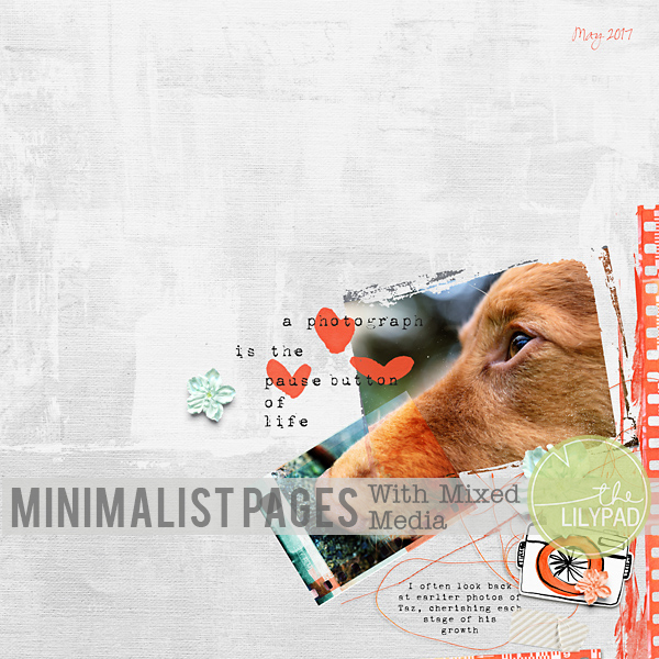 Minimalist Pages With Mixed Media