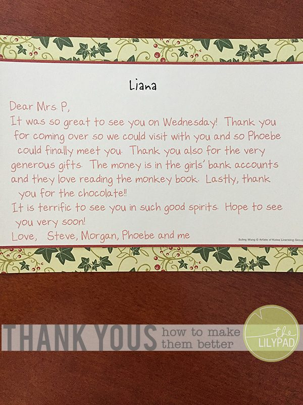 Tips for Typing Thank You Notes
