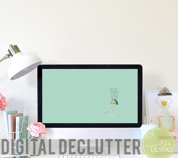 Monthly Digital Declutter and March Wallpaper