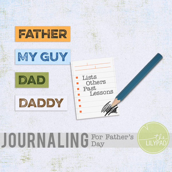 Words for Fathers with Journal Card