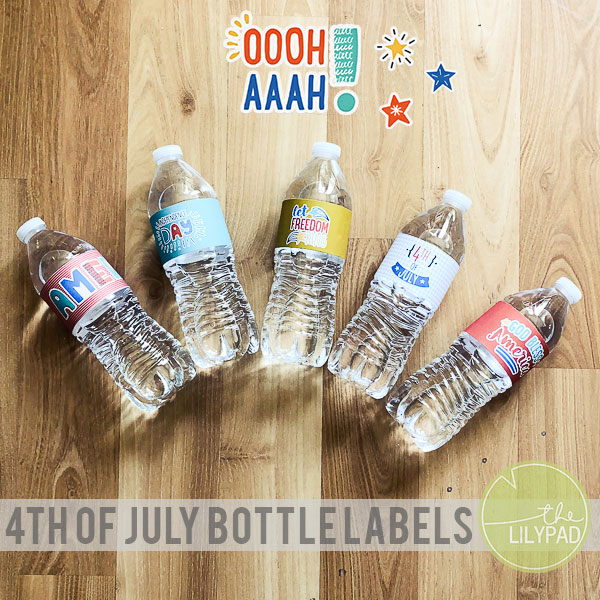 4th of July Bottle Labels {FREE PRINTABLE}
