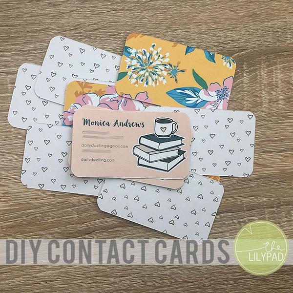 DIY Contact Cards