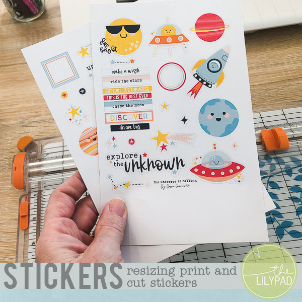 Resizing Print and Cut Stickers