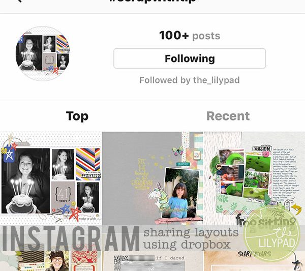 Sharing Layouts on Instagram Using Dropbox