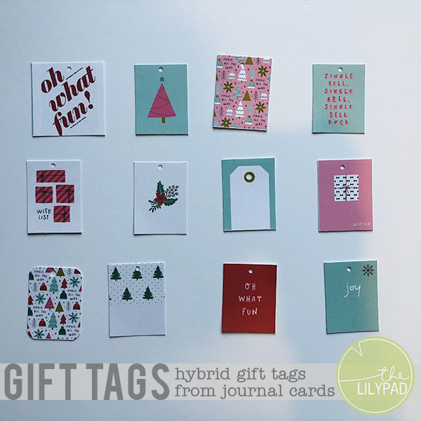 Hybrid Gift Tags from Journal Cards