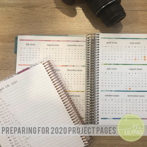 Preparing for 2020 Project Pages