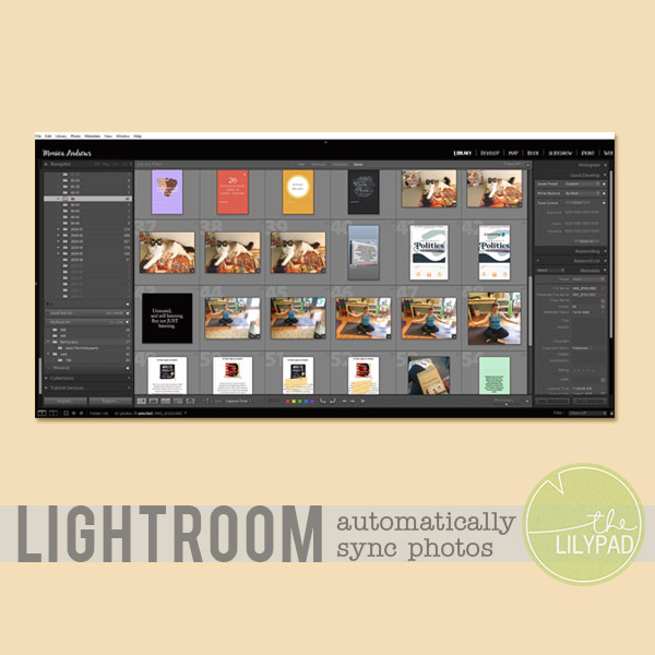 Automatically Sync Photos with Lightroom