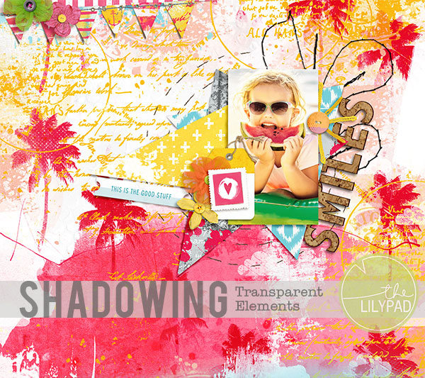Shadowing Transparent Elements in Photoshop