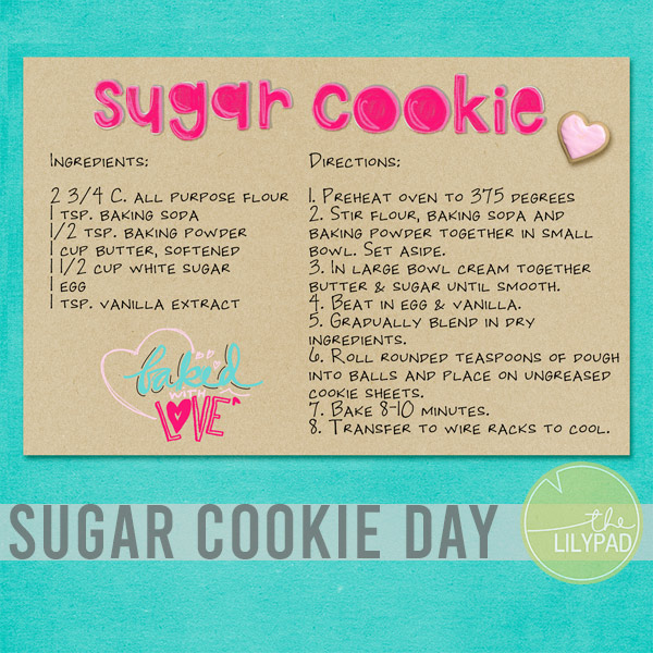 National Sugar Cookie Day and Recipe
