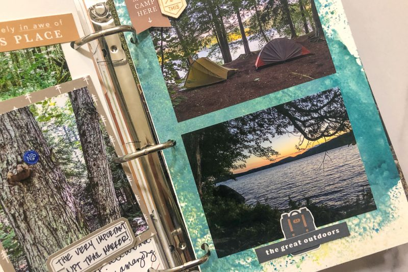 Part 2 // Playing with Scissors, Paper & a Printer: Creating a Hybrid Scrapbook Album