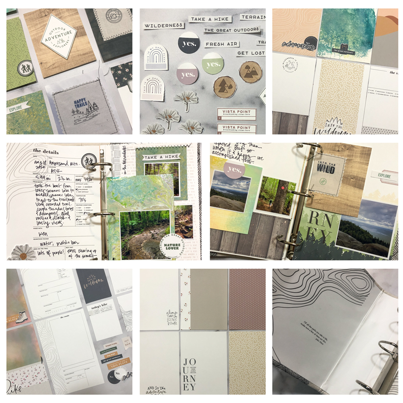 Playing with Scissors, Paper & a Printer: Creating a Hybrid Scrapbook Album