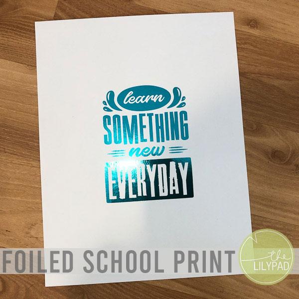 Foiled School Print