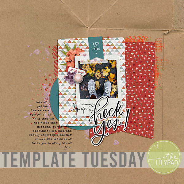 Template Tuesday   Using YES from DSD Freebie Hop