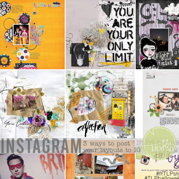 3 Ways to Post Your Scrapbook Layouts to Instagram