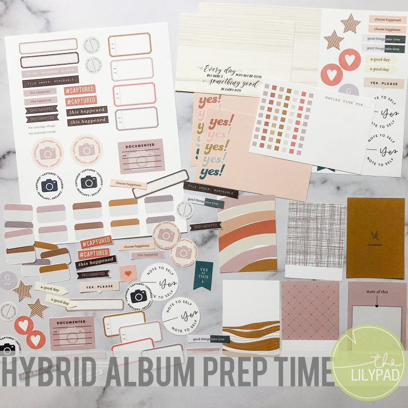 A Hybrid Scrapbooking Themed Album: The Process Starts