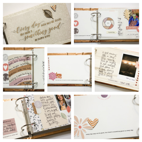 Hybrid Scrapbooking:  A There's Something Good Each Day Album